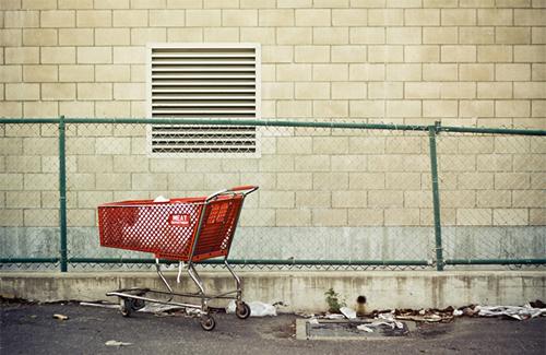 Carrinho Abandonado na Rua e-commerce
